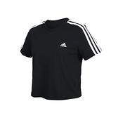ADIDAS 女短袖T恤(短版 純棉 休閒 亞規 上衣 愛迪達≡體院≡ GL0777