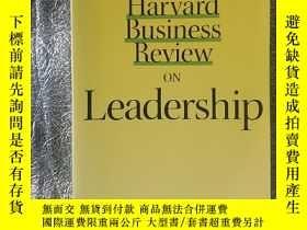 二手書博民逛書店Harvard罕見Business Review on Lead