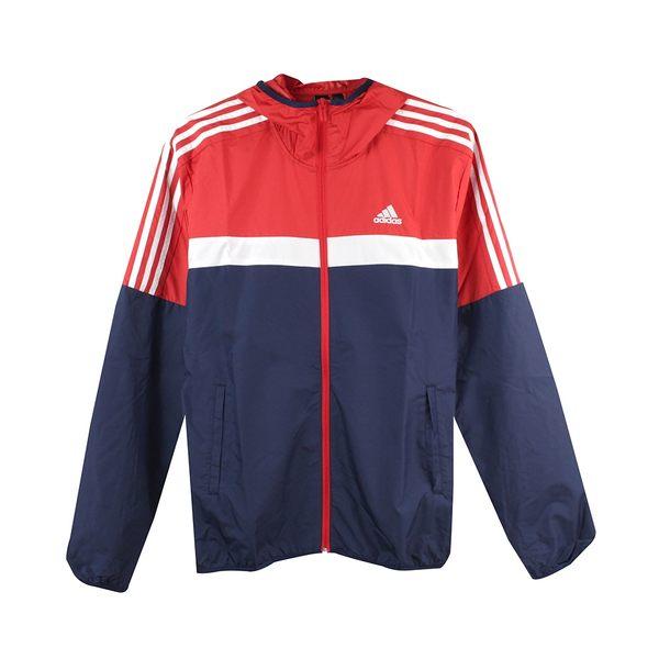 Adidas 男 M WB CB HOOD JK 愛迪達 尼龍防風外套- DH3997