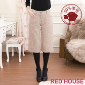 RED HOUSE-蕾赫斯-毛料百搭褶扣五分褲(共2色)