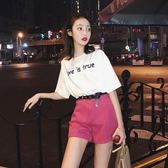 短褲套裝女夏2019新款時尚顯瘦兩件套洋氣減齡俏皮高腰牛仔闊腿褲  ifashion部落