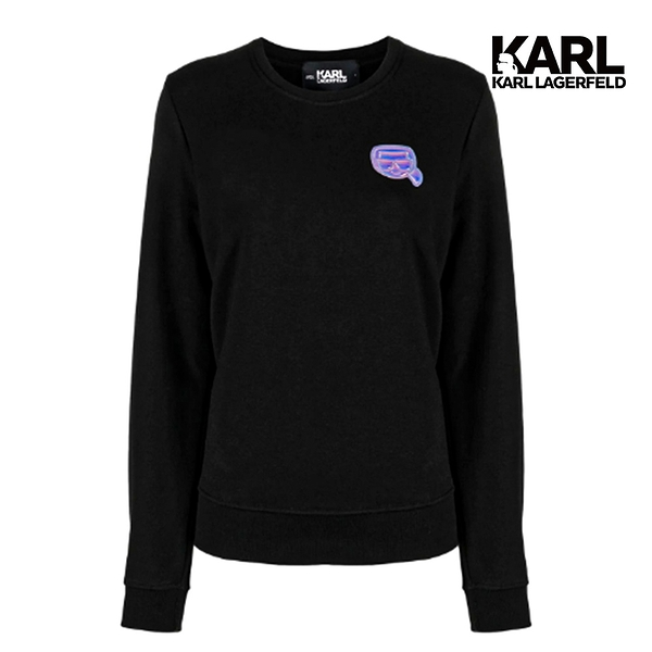 【KARL LAGERFELD】3D幻彩小IKONIK運動衫-黑