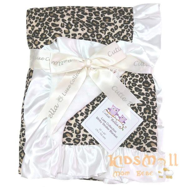 Cutie Bella 超柔軟點點攜帶毯Leopard-White