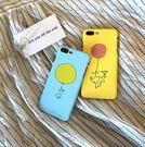 【SZ15】iPhone7 plus手機殼 手繪氣球小兔子 磨砂半包硬殼 iPhone6/6s plus手機殼