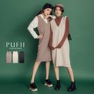PUFII-針織上衣 長版V領針織背心裙-1112 現+預 冬【CP17528】