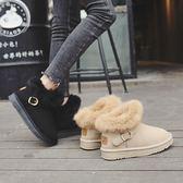 雪地靴女短筒冬季加絨保暖棉鞋韓版百搭學生厚底毛毛鞋潮