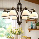 美式吊燈客廳歐式餐廳臥室田園風格鐵藝家用燈飾北歐燈具現代簡約台北日光igo