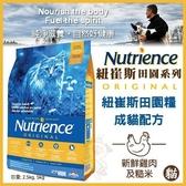 *WANG*美國Nutrience紐崔斯《田園糧-成貓(雞肉+糙米)》5公斤