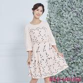 【RED HOUSE 蕾赫斯】優雅蕾絲繡花洋裝(粉色)(無附腰帶)