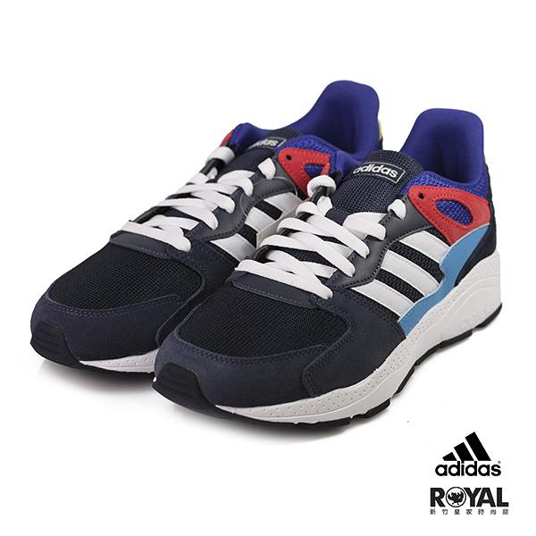 Adidas 新竹皇家 Chaos 藍色 麂皮 網布 拼接 軟墊 休閒運動鞋 男款 NO.B0499
