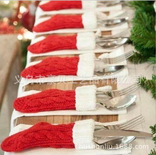 新款聖誕襪 聖誕餐具套 聖誕針織襪─預購CH2422