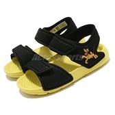 adidas 涼拖鞋 Altaswim I 黑 黃 童鞋 小童鞋 迪士尼 布魯托 魔鬼氈 運動涼鞋 【ACS】 FW6038
