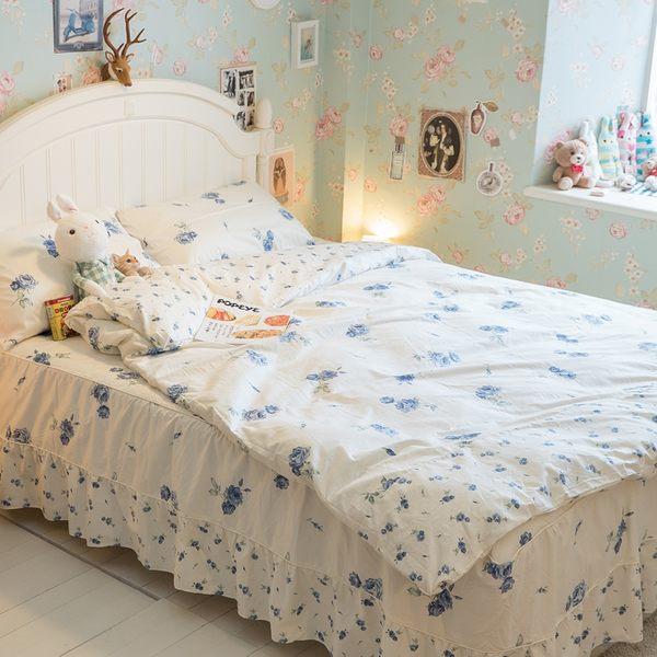【鋪棉床裙】DPS3雙人鋪棉床裙與雙人新式兩用被五件組 100%精梳棉 多款可選 台灣製 棉床本舖