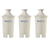 [送4L濾水壺] Brita 濾水壺專用圓形濾心/濾芯 (3入) (和舊款相容,效率更好可過濾151公升)