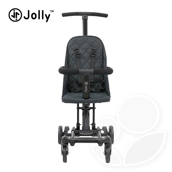 英國 Jolly 輕便型摺疊手推車-灰/黑【佳兒園婦幼館】