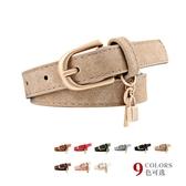 腰鏈皮帶 素色 仿皮 PU 鑰匙 吊墜 裝飾 百搭 針釦 皮帶 細腰帶【NR700】 ENTER  02/28