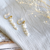 [現貨] itam 日本製 珍珠串耳環/耳夾 (NP274)