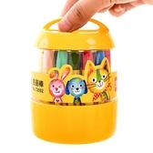 桶裝油畫棒蠟筆安全無毒可水洗六角桿兒童便攜