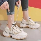 老爹鞋子女ins夏季新款潮鞋網紅增高百搭學生鬆糕厚底運動鞋 聖誕節交換禮物