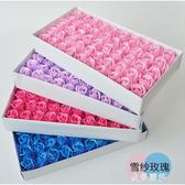 2層雪紗香皂花兩層瑰玫花肥皂花創意禮品花束禮盒制作花店用品HM 金曼麗莎
