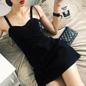 吊帶裙很仙的小眾吊帶連身裙夏仙女超仙復古彈力牛仔裙子新年禮物 韓國時尚週