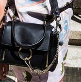 ■現貨在台■專櫃75折 ■2019 秋冬全新真品 Chloe 迷你 Mini Faye Day 小牛皮兩用包 黑色