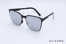 ROAV 偏光太陽眼鏡 AUDREY - Mod.SS002 ( 霧黑框/白水銀) 薄鋼折疊墨鏡
