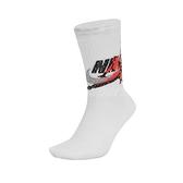 Nike 襪子 Jordan Legacy Crew Socks 喬丹 長襪 中筒襪 白 橘 黑 潑墨 大 Logo 單雙入 【ACS】 CU2956-100