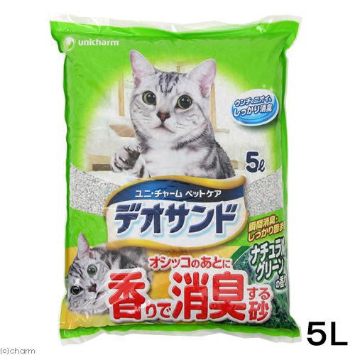 PetLand寵物樂園《日本Unicharm》嬌聯消臭黏土礦砂 - 森林香 5L / 低粉用量省