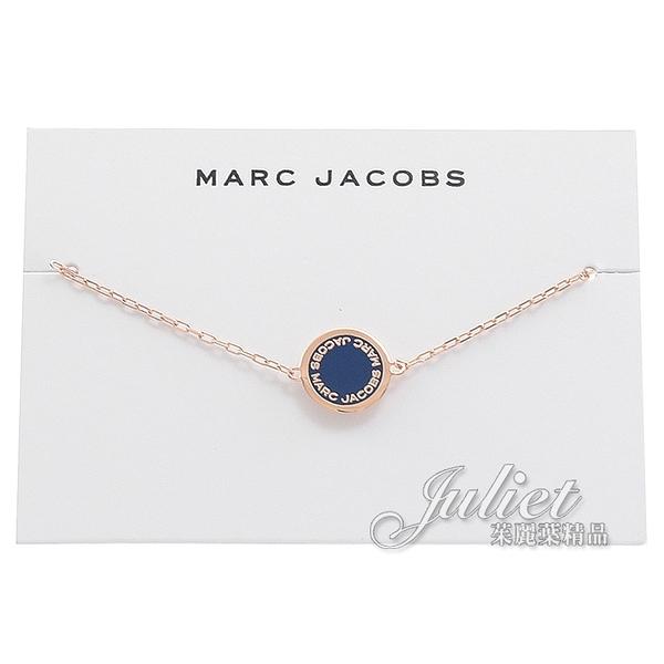 茱麗葉精品【全新現貨 優惠價】MARC JACOBS M0008540 Disc Enamel手鍊.玫瑰金/藍