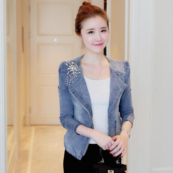 氣質牛仔小西裝短款女小個子春季韓版修身外套女時尚彈力上衣 小山好物