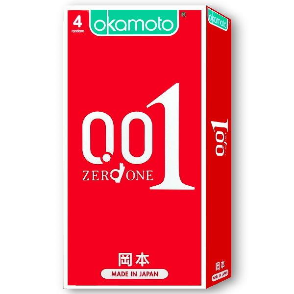 岡本-0.01極薄衛生套(4入) |愛情套餐|