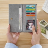 時尚清新可愛男士大學生簡約情侶休閒正韓女式錢包長款薄款卡包