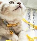 牽引繩 貓咪牽引繩幼貓犬工字胸背帶脖圈栓貓繩防掙脫貓狗鏈子加長遛貓繩 交換禮物