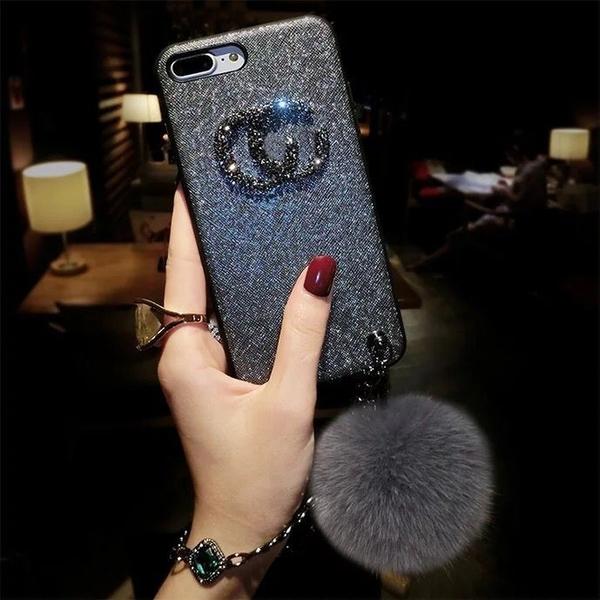 新品特價 毛球iPhone xs max手機殼鏈條678新款防摔蘋果8plus個性創意XR潮5
