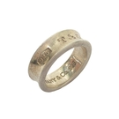 Tiffany & Co 蒂芬妮 1837系列Logo刻印925純銀戒指 11號 【二手名牌BRAND OFF】