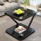 北歐迷你角幾簡約現代創意鋼化玻璃小茶几臥室小方桌沙發邊幾WD  一米陽光