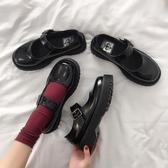 優一居 小皮鞋女英倫夏天森女系日系百搭黑色復古瑪麗珍鞋一字扣