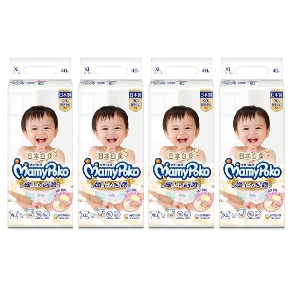 【南紡購物中心】滿意寶寶 極上呵護紙尿褲 XL 40片*4包入(箱購)
