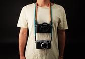 cam-in棉織真皮時尚個性相機繩索尼富士微單攝影背帶徠卡肩帶掛脖 8號店