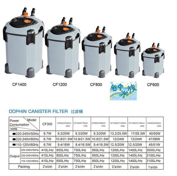 {台中水族}海豚CF-1400  紫外線光UV-C 外置圓桶過濾器1400L/H  特價 適用池塘 大型缸