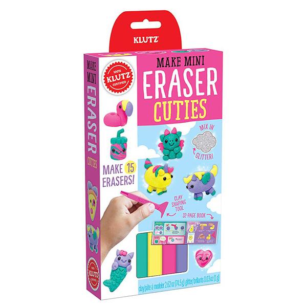 [KLUTZ] Mini Eraser Cuties DIY橡皮擦-亮亮可愛版(橡皮擦製作/捏塑創作)