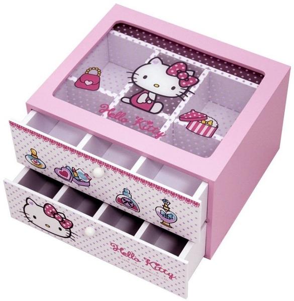【震撼精品百貨】Hello Kitty 凱蒂貓~珠寶抽屜盒~粉【共1款】