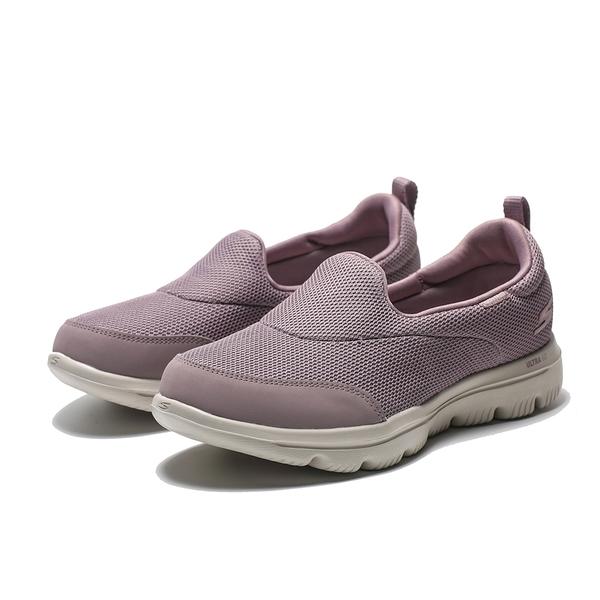 SKECHERS GO WALK 粉紫 網布 健走 懶人鞋 女 (布魯克林) 15767MVE