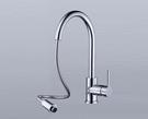 【麗室衛浴】國產精品 廚房立式抽取式龍頭 107002
