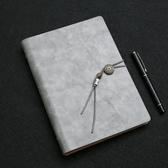 筆記本商務筆記本文具中國風簡約A5活頁公司辦公會議禮盒套裝免費刻字復古記事本讀