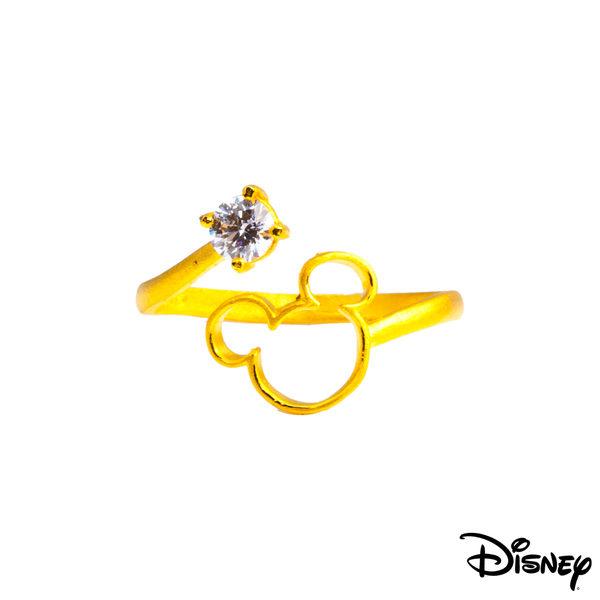 Disney迪士尼系列金飾 黃金戒指-耀眼米奇款