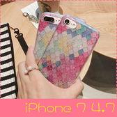 【萌萌噠】iPhone 7  (4.7吋)  韓國閃粉Bring閃粉美人魚鱗片保護殼 全包矽膠軟殼 手機殼 手機套