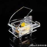 創意帶祝福語透明水晶玻璃鋼琴音樂盒送女學生兒童生日禮品音樂盒艾美時尚衣櫥