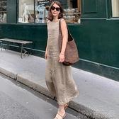 【高品質】高檔亞麻連衣裙子2021夏季天女裝新款顯瘦棉麻長款潮 快速出貨